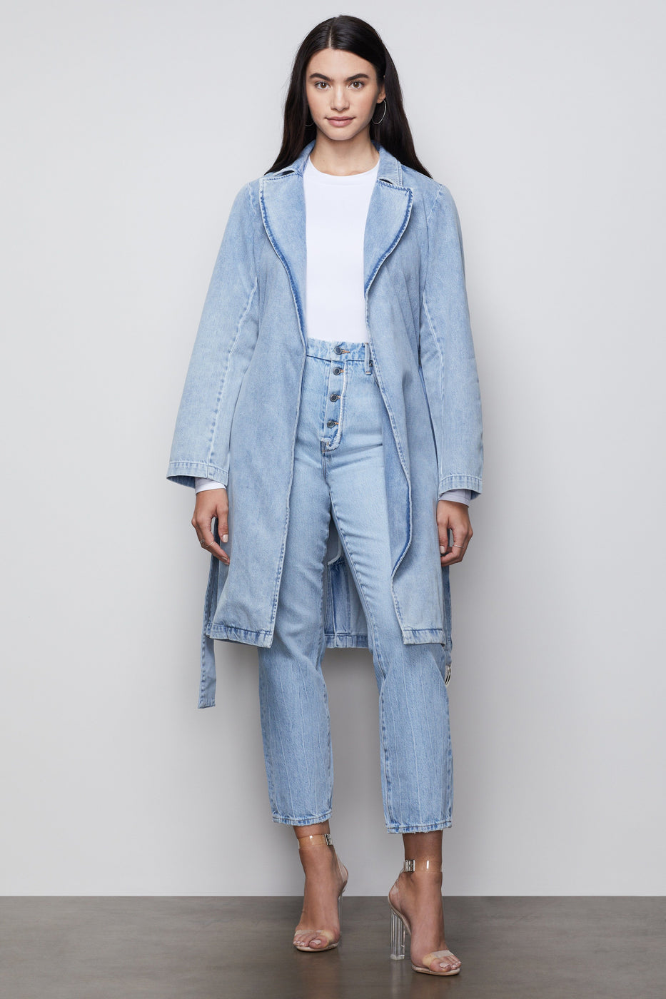 DENIM TRENCH | BLUE422