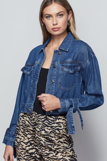 KNOTTED JEAN JACKET | BLUE472