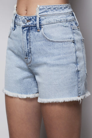GOOD VINTAGE SHORT DOUBLE WAISTBAND | BLUE419