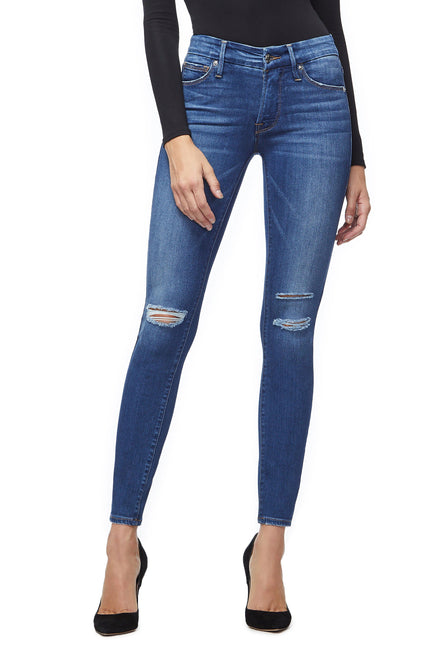 Good American Super High Waisted Blue219 Jeans