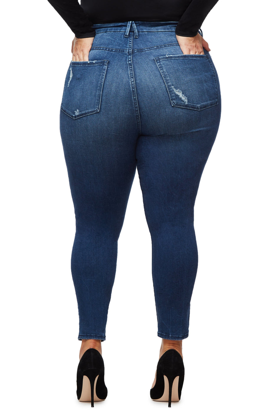 Good American Super High Waisted Blue249 Jeans