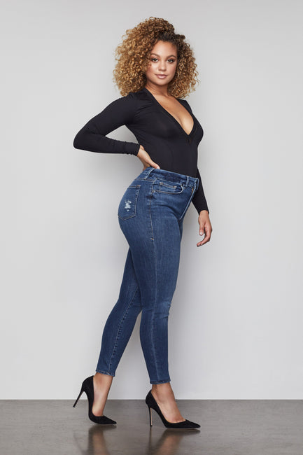 Good American Super High Waisted Blue195 Jeans