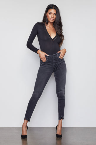 GOOD WAIST CHEWED HEM | BLACK061