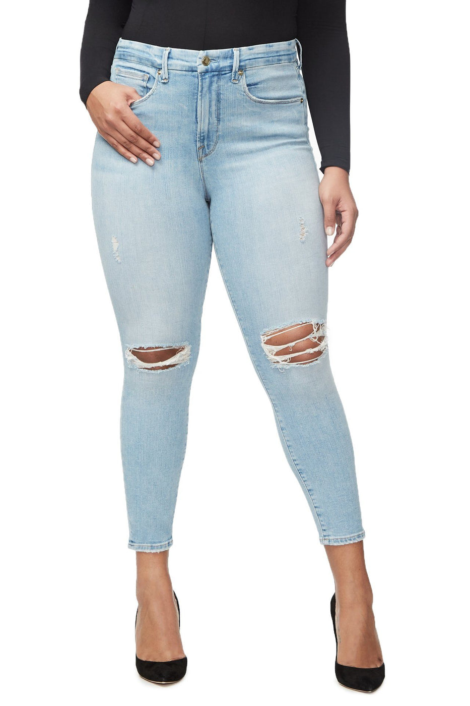 GOOD WAIST CROP | BLUE297