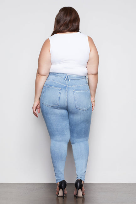 GOOD WAIST CROP RAW EDGE | BLUE352
