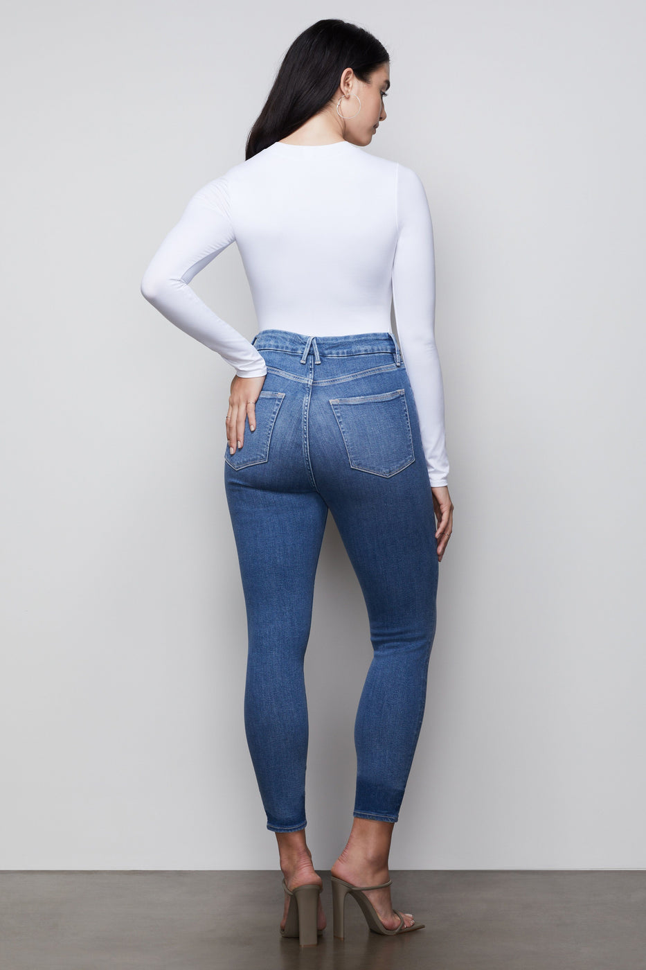 GOOD WAIST CROP NOTCHED WAISTBAND | BLUE396