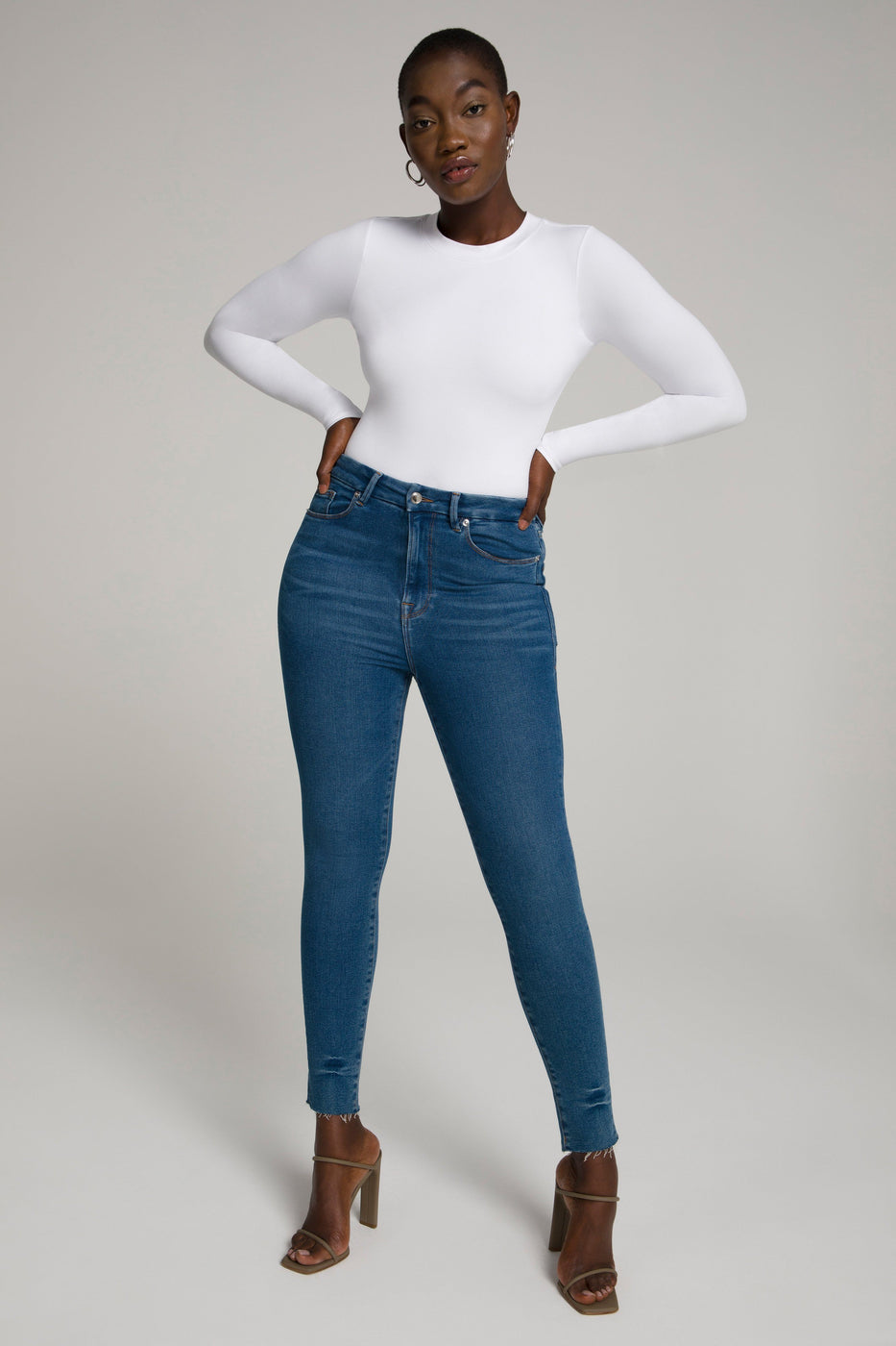 GOOD WAIST CROP SHADOW POCKETS | BLUE477