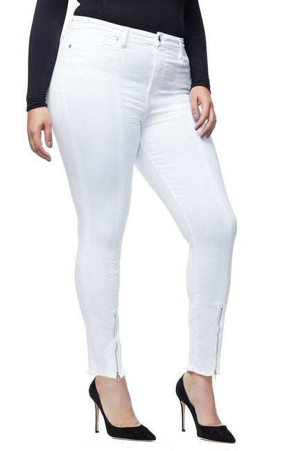 GOOD WAIST FRONT ZIP | WHITE001