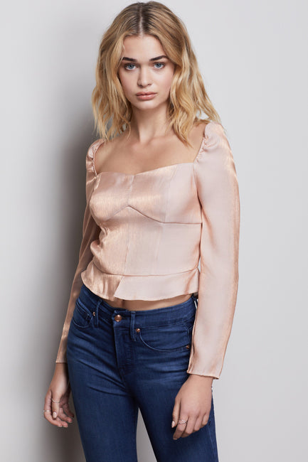 THE TOO TEMPTED CORSET TOP | ROSE GOLD001