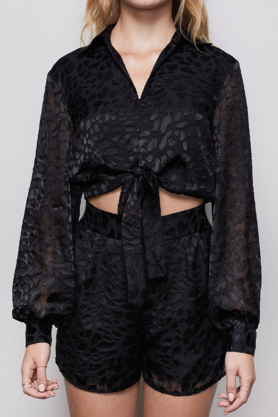 THE MIDNIGHT LEOPARD BURNOUT TOP | BLACK001