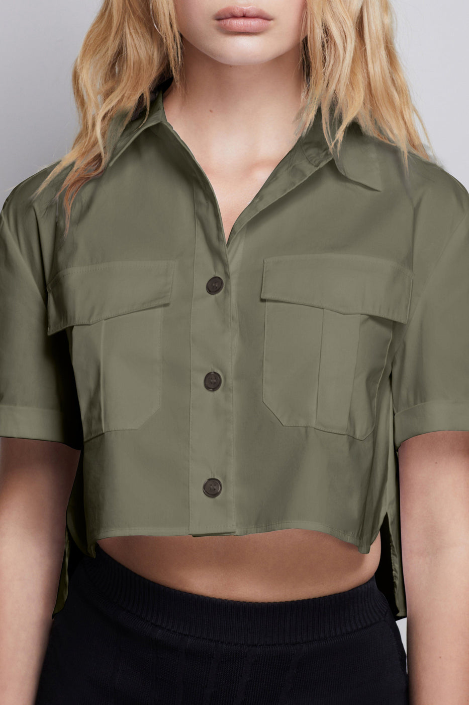 THE CROP SHIRT | SAGE001