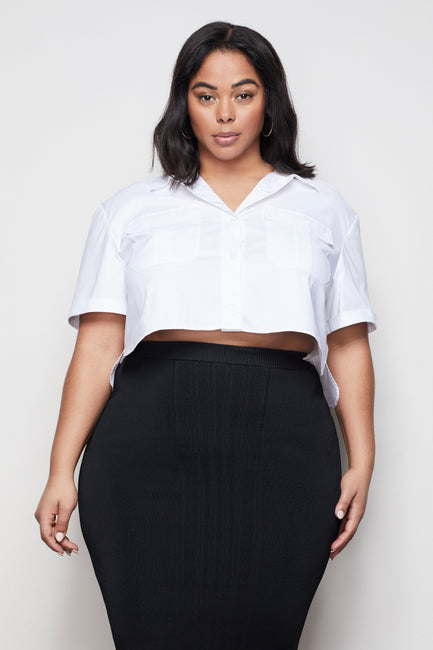 THE CROP SHIRT | WHITE001