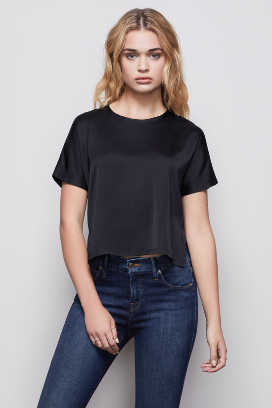 THE SATIN TEE | BLACK001