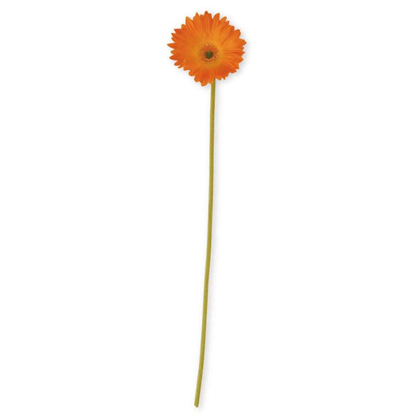 Gerbera Daisy Real Touch Stem - Orange