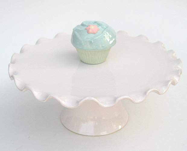 Ruffled Edge Cake Plate