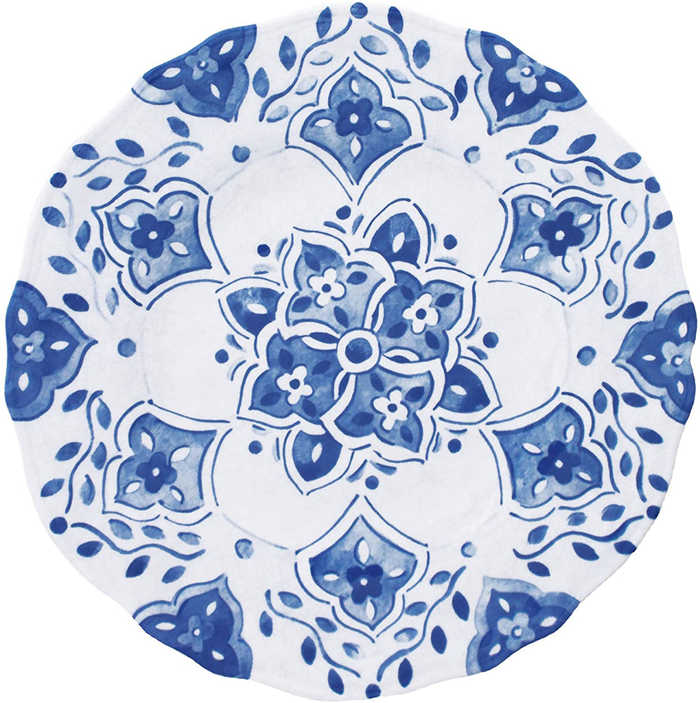 Moroccan Blue Salad Plate