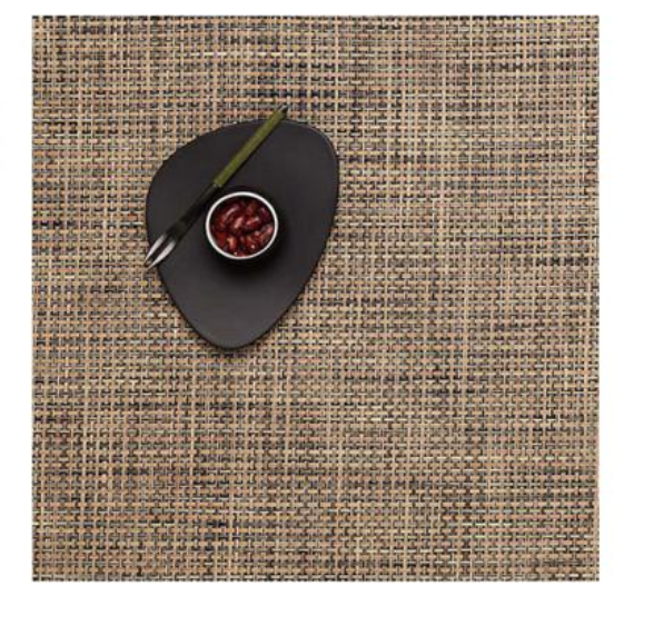 Chilewich Basketweave Square Placemat, Bark