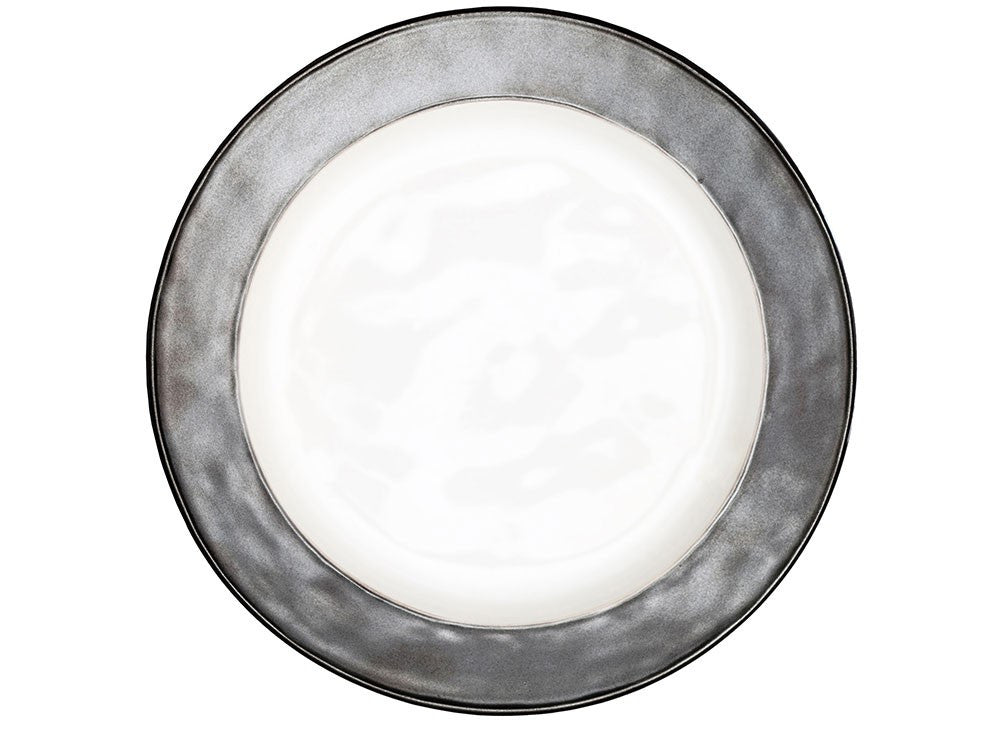 Juliska Emerson Dinner Plate (White/Pewter)
