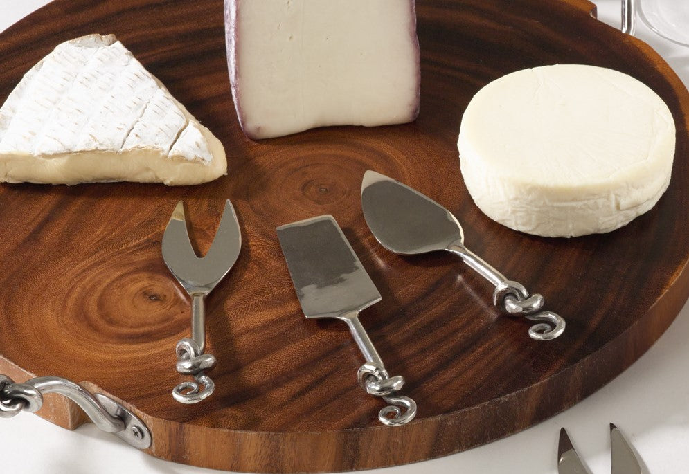 Knotted Cheese Cutlery, Set of 3