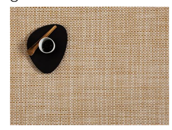 Chilewich Basketweave Placemat, White/Gold