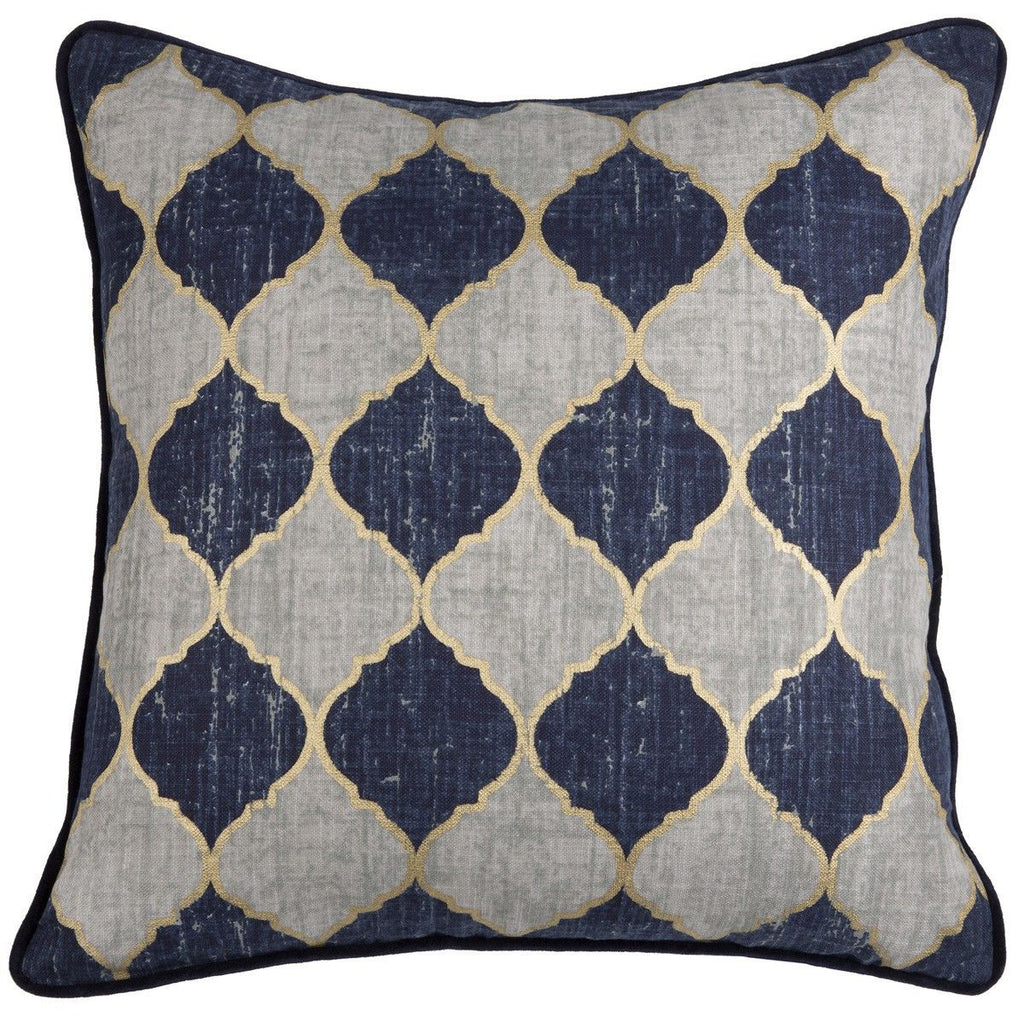 Atwater Indigo/Gold Pillow
