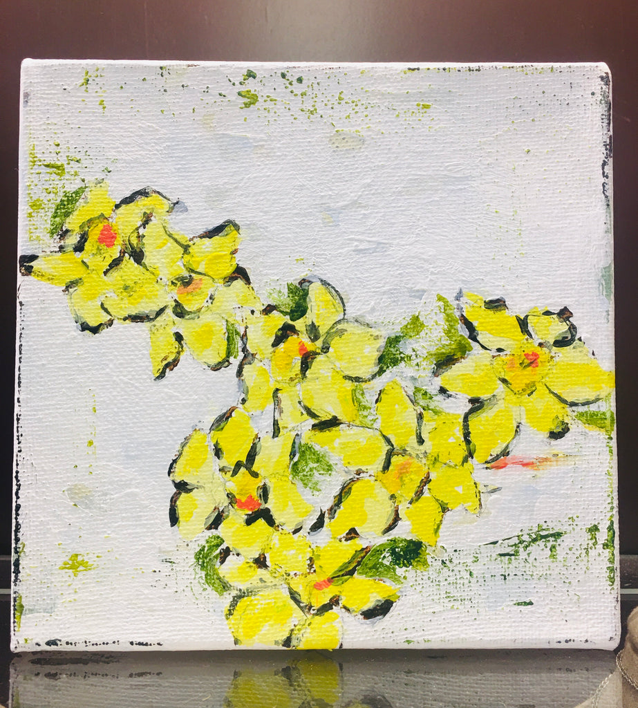 White With Many Daffodil JH Painting