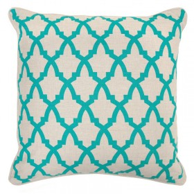 Serafina Turquoise Pillow Cover