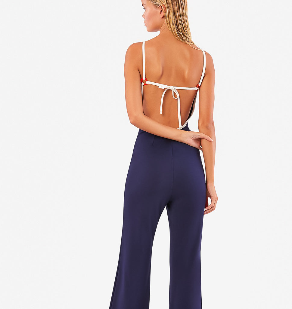 SOLID & STRIPED, BOTTOMS, SOLID & STRIPED | Wrap Aaron Jumpsuit - Edgar Martha's Vineyard