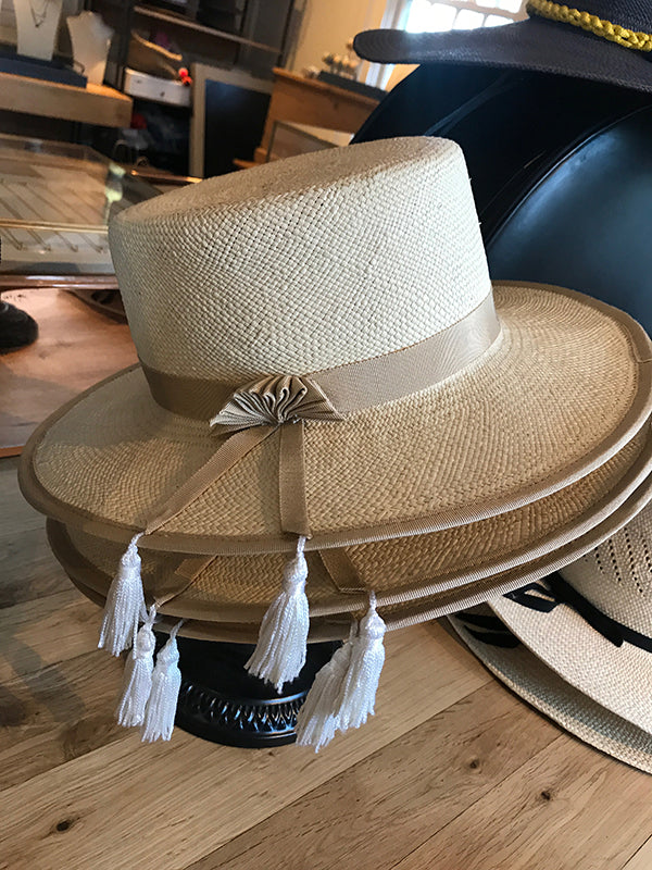GLADYS TAMEZ MILLINERY, ACCESSORIES, GTM | Chloe straw Hat - Edgar Martha's Vineyard