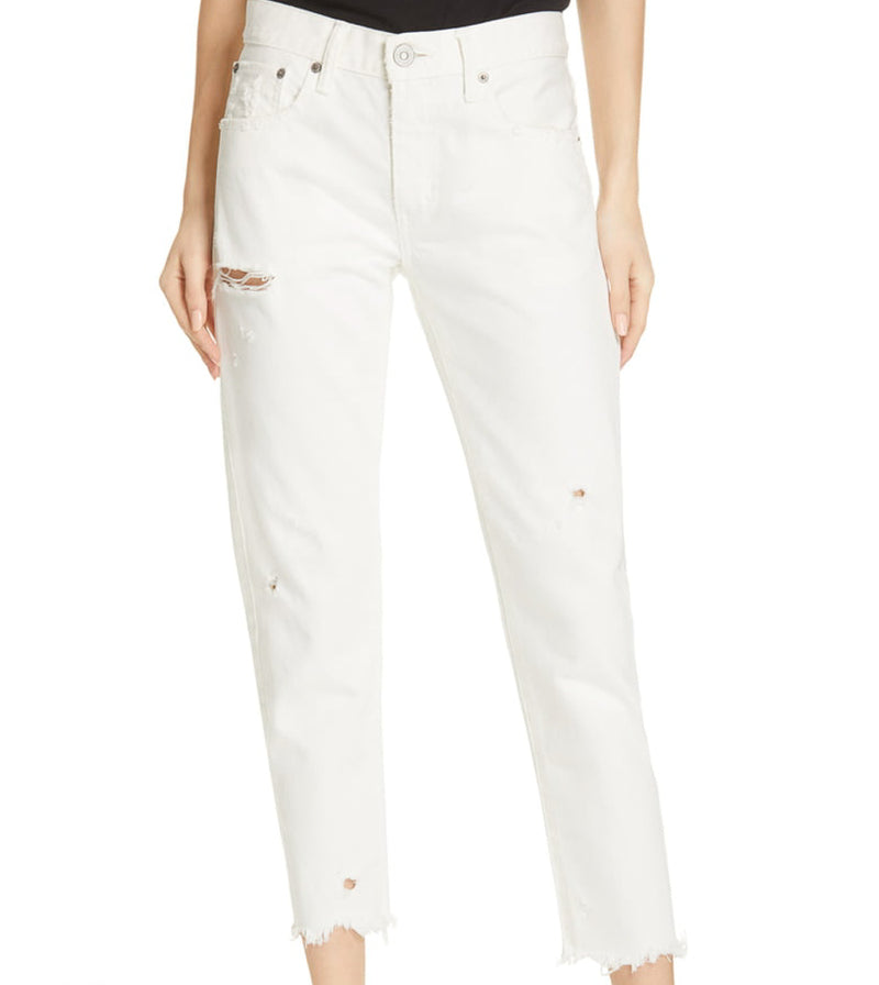 MOUSSY, DENIM, MOUSSY | Kelly Tapered White 2180 - Edgar Martha's Vineyard