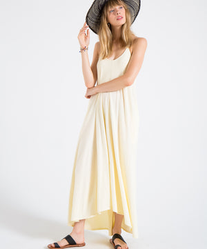 EDGAR mv, DRESS, EDGARmv | Organic Cotton Adjustable String Strap Maxi Dress - Edgar Martha's Vineyard