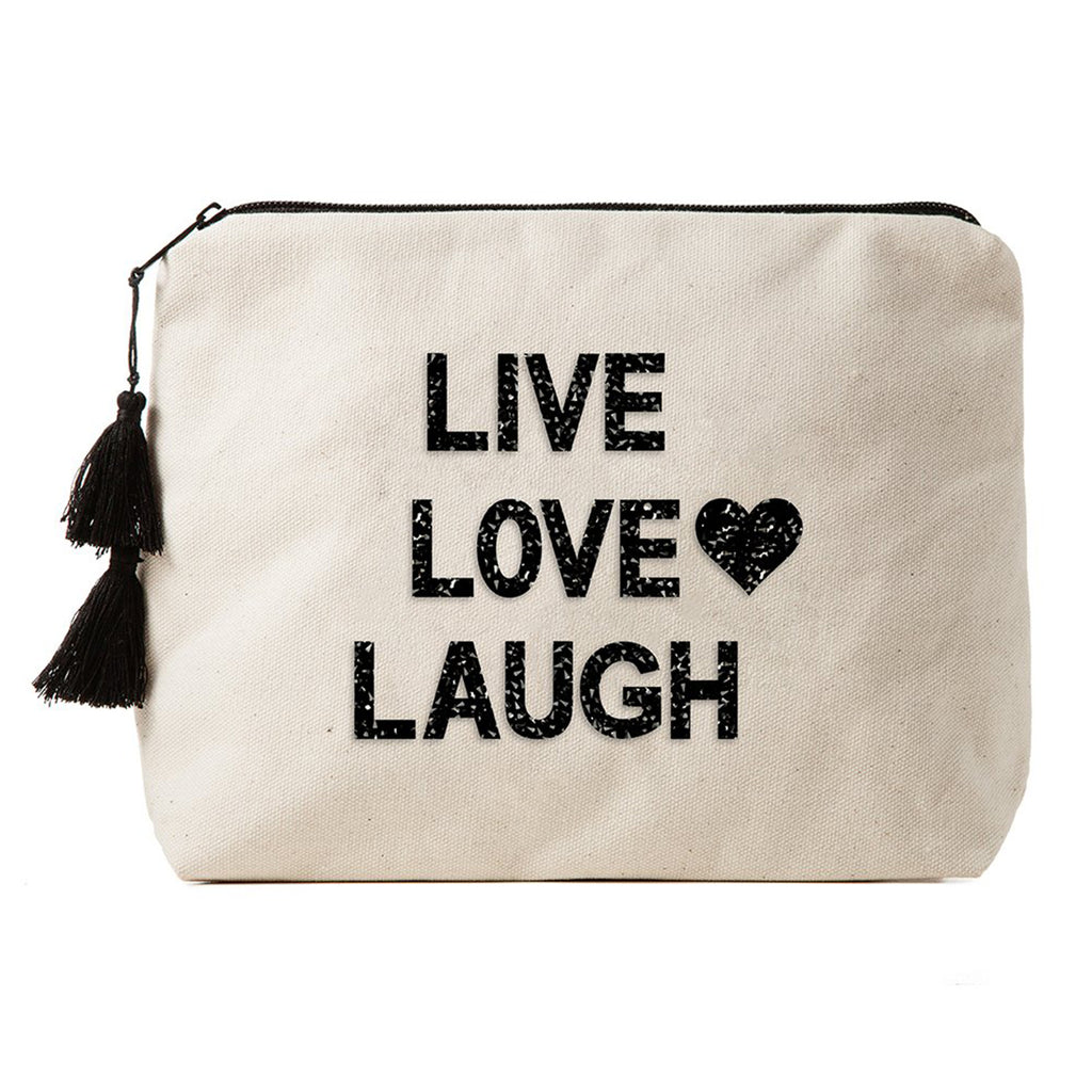 FALLON & ROYCE, ACCESSORY, FALLON & ROYCE | Live Love Laugh Bikini Bag - Edgar Martha's Vineyard