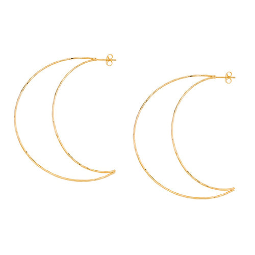 SHASHI, JEWELRY, SHASHI | Crescent Hoop Earring Yellow Gold - Edgar Martha's Vineyard
