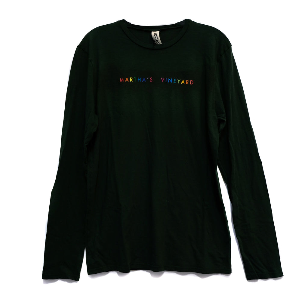 EDGAR mv, TOP, EDGARmv | Organic Cotton Gradient MV Logo Relaxed Long Sleeve T-Shirt - Edgar Martha's Vineyard