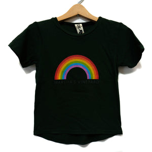EDGAR mv, KIDS, EDGARmv | Organic Cotton Kids Rainbow MV logo T-Shirt - Edgar Martha's Vineyard