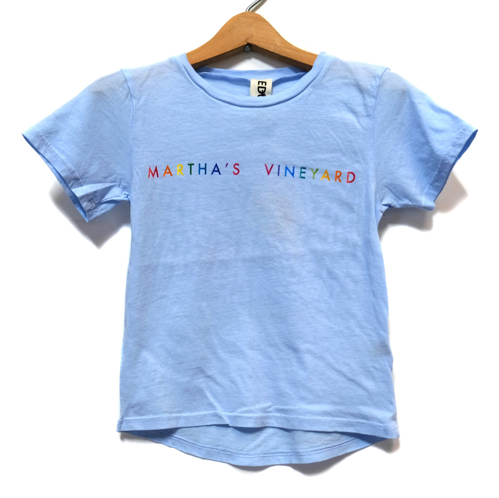 EDGAR mv, KIDS, EDGARmv | Organic Cotton Kids T-Shirt Gradient MV logo - Edgar Martha's Vineyard