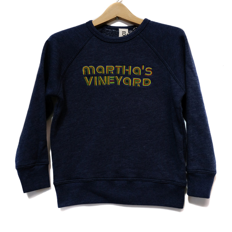 EDGAR mv, KIDS, EDGARmv | Organic Cotton Kids Embroidered MV logo Sweatshirt - Edgar Martha's Vineyard