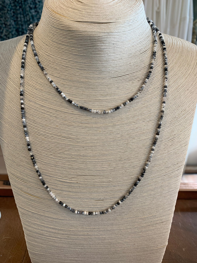 ASHLEY SCHENKEIN, JEWELRY, ASHLEY SCHENKEIN | Portland Long Gemstone Necklace - Edgar Martha's Vineyard