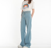 JOES JEANS, DENIM, JOES JEANS | Chelsea High Rise Belted Flare - Edgar Martha's Vineyard