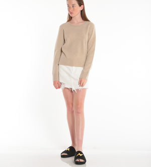 NAADAM, TOP, NAADAM |Hand Brushed Cashmere Crewneck - Edgar Martha's Vineyard