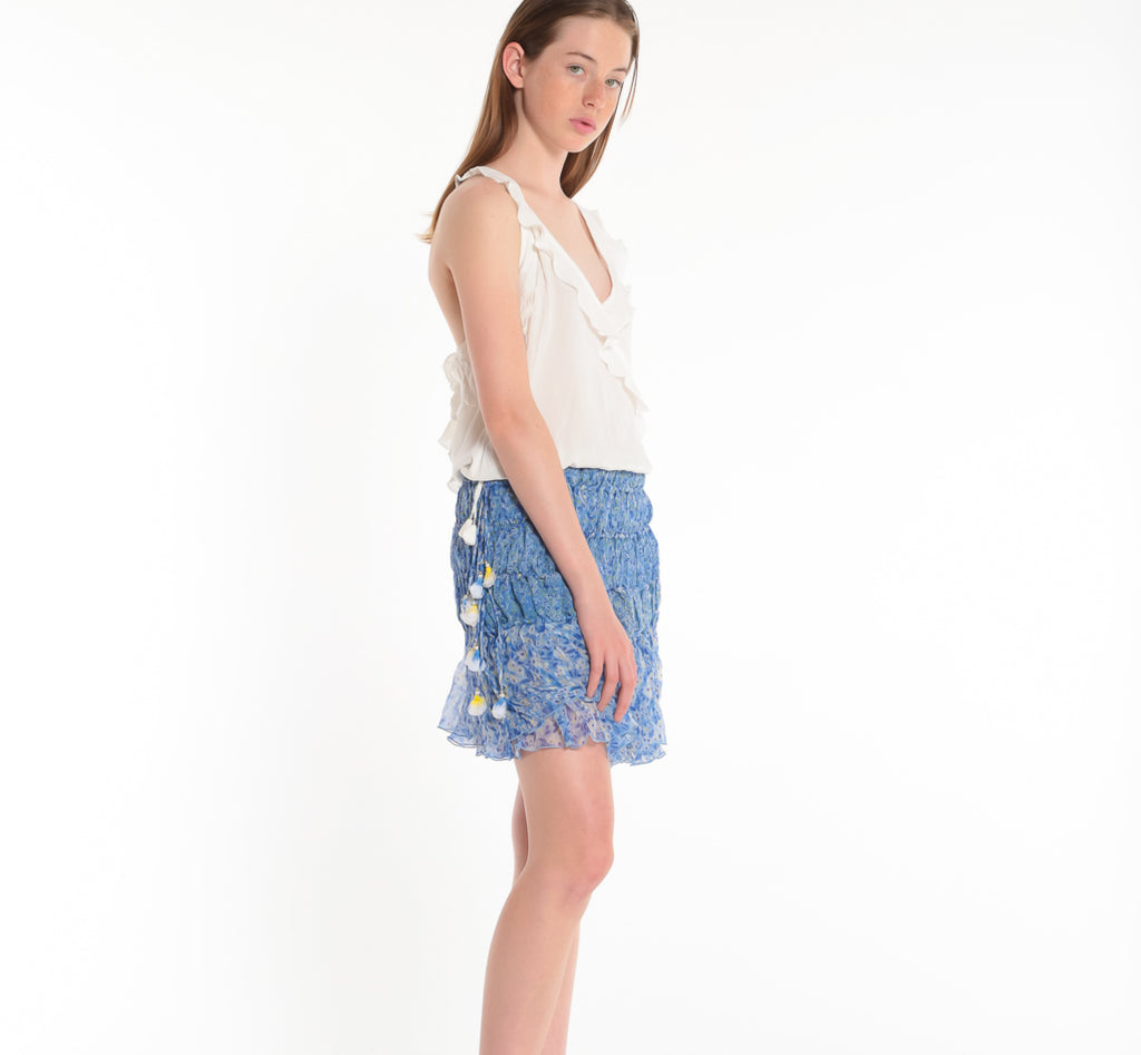 POUPETTE ST BARTH, TOP, POUPETTE ST BARTH | Singlet Yoana Ruffled Top - Edgar Martha's Vineyard