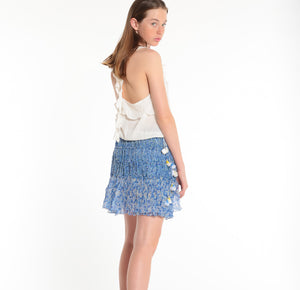 POUPETTE ST BARTH, TOP, POUPETTE ST BARTH | Singlet Yoana Ruffled - Edgar Martha's Vineyard
