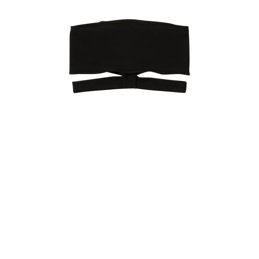 EDGAR mv, TOP, EDGARmv | Organic Cotton Black Spandex Versi Bandeau - Edgar Martha's Vineyard