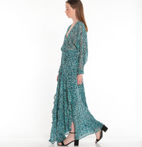 POUPETTE ST BARTH, DRESS, POUPETTE ST BARTH | Long Dress Ilona Flounce - Edgar Martha's Vineyard