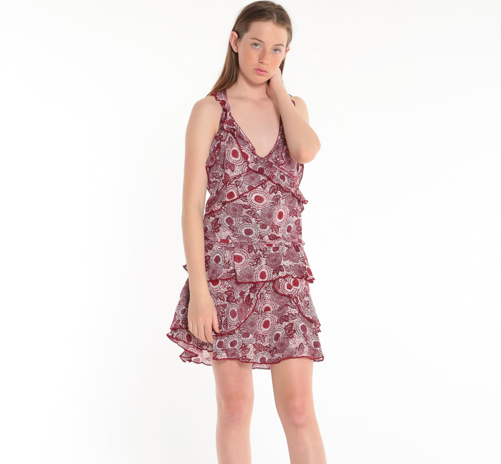 POUPETTE ST BARTH, DRESS, POUPETTE ST BARTH | Mini Dress Yoana Ruffled - Edgar Martha's Vineyard