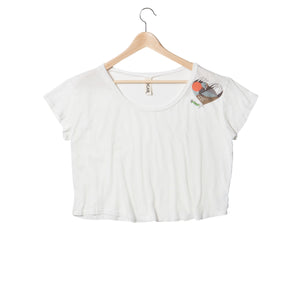EDGAR mv, TOP, EDGARmv | Heath Hen Organic Cotton Cropped Box Tee - Edgar Martha's Vineyard