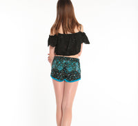 POUPETTE ST BARTH, BOTTOMS, POUPETTE ST BARTH | Boxer Short Lulu Lace Trimmed - Edgar Martha's Vineyard