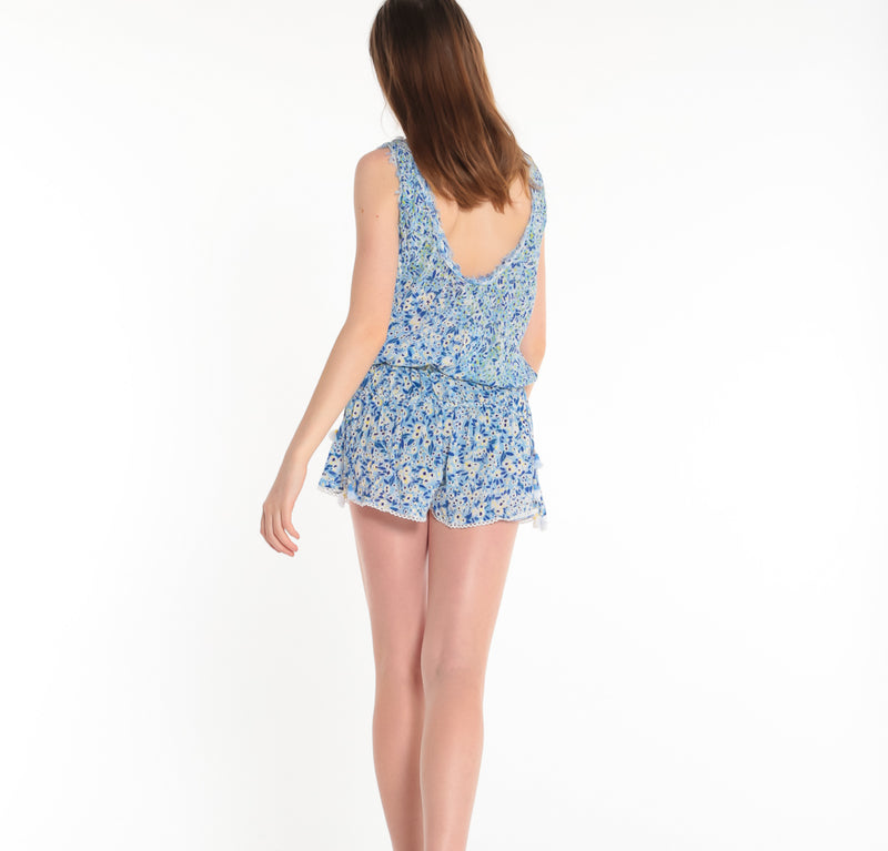POUPETTE ST BARTH, BOTTOMS, POUPETTE ST BARTH | Short Jumpsuit Soledad Open Back - Edgar Martha's Vineyard