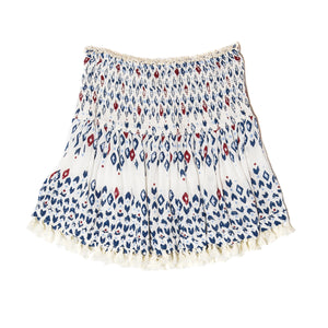 POUPETTE ST BARTH, SKIRT, POUPETTE ST BARTH | Mini Skirt Mara Smocked - Edgar Martha's Vineyard