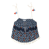 POUPETTE ST BARTH, TOP, POUPETTE ST BARTH | Singlet Mara Tassle Trimmed - Edgar Martha's Vineyard